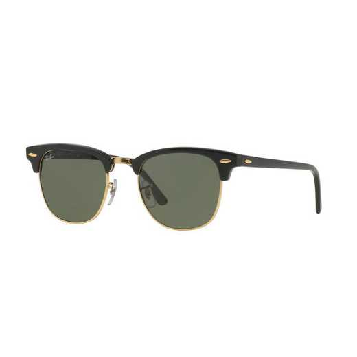0RB3016W036549: Ray-Ban Clubmaster Sunglasses - BLK